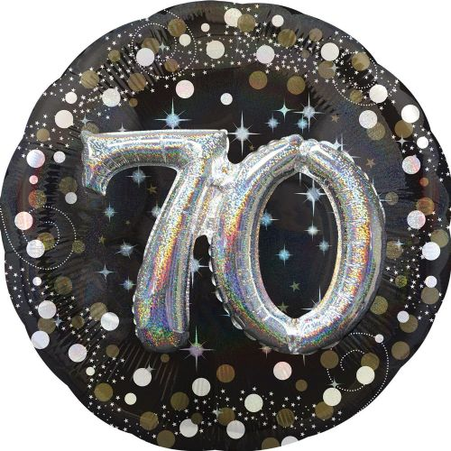 Gold Sparkling Celebration 70th Birthday Multi